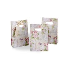 """With Love"" Ivory and Pastel Romantic Design Paper Favor Bags"