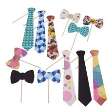 Ties & Bowties Photo Booth Props Assortment
