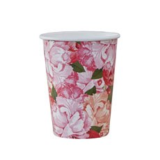 Floral Paper Cups - 8 Pack