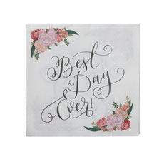 Best Day Ever Floral Design Napkins - 20 Pack