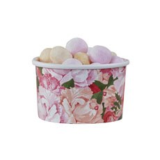 Floral Sweetie Treat Tubs - 8 Pack