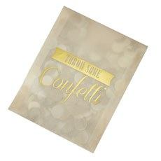 Vintage Affair Confetti Envelope - Gold