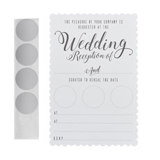 White Evening Scratch The Date Invitations - 10 Pack