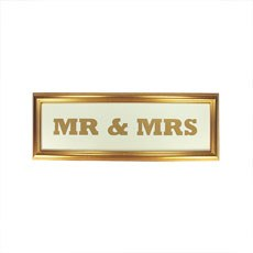 Mr & Mrs Gold Frame