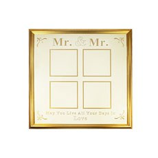 Mr & Mr 4 Aperture Gold Frame