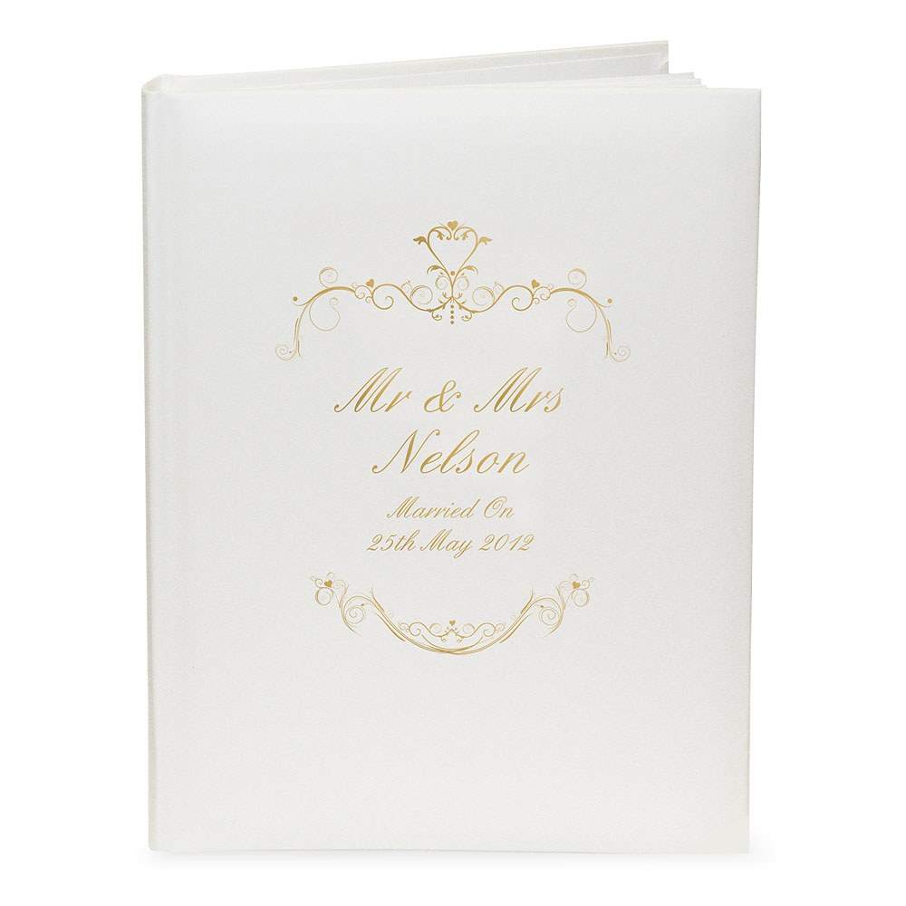 Personalized Gold Ornate Swirl Album