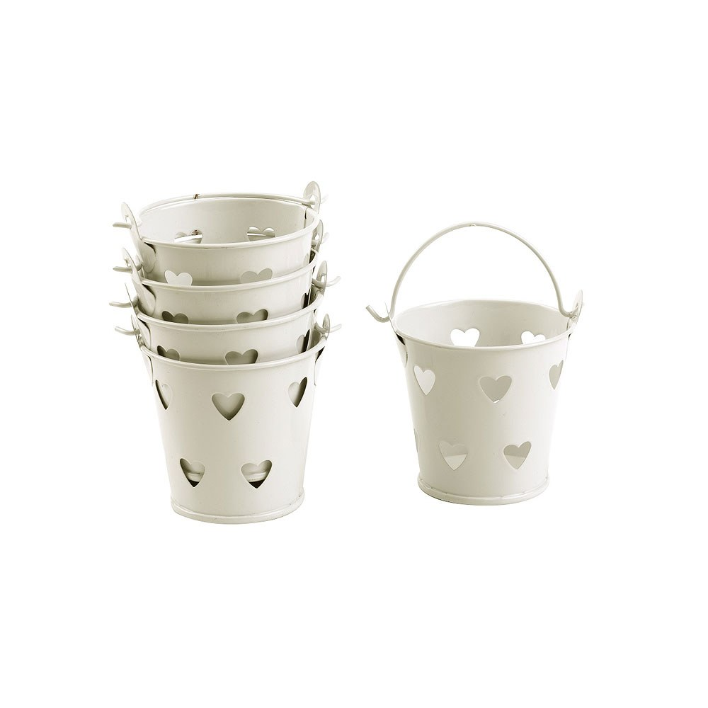 Cut Out Heart Favor Pails Pack