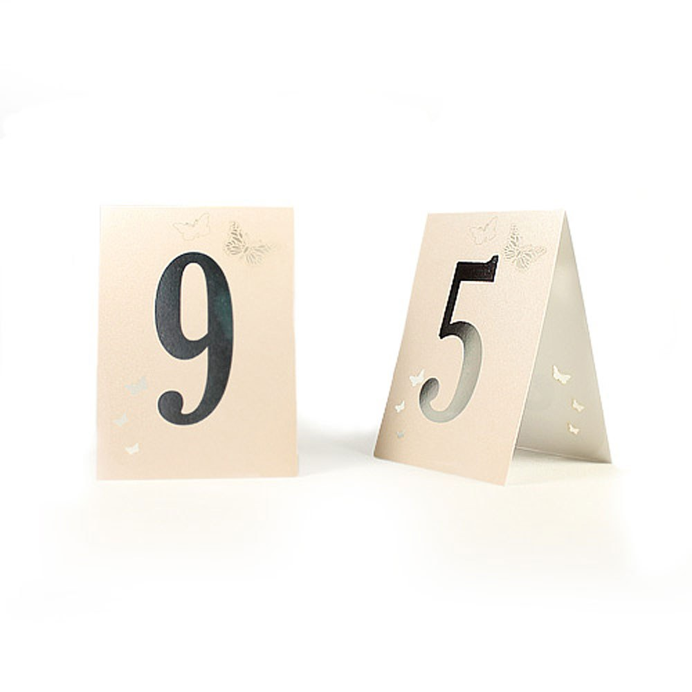 Pink Pearl Butterfly Table Numbers 1-10