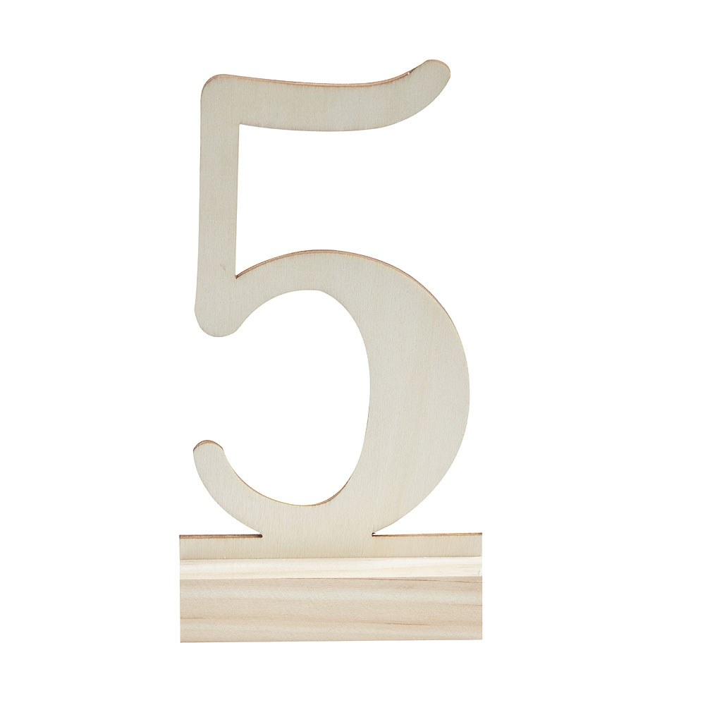 Wooden Table Numbers 1-12