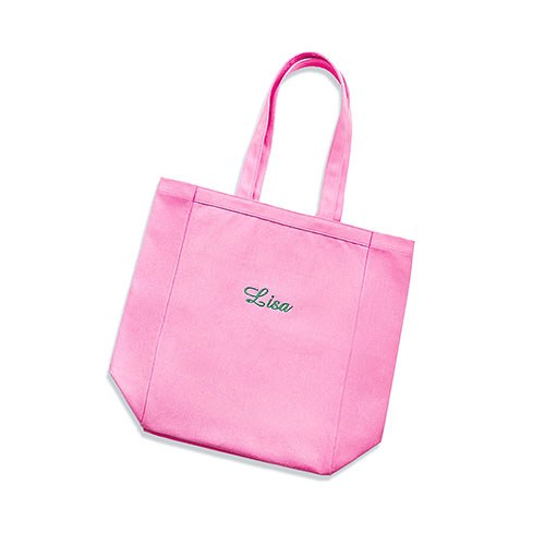 small personalized cotton canvas fabric beach tote bag pink the