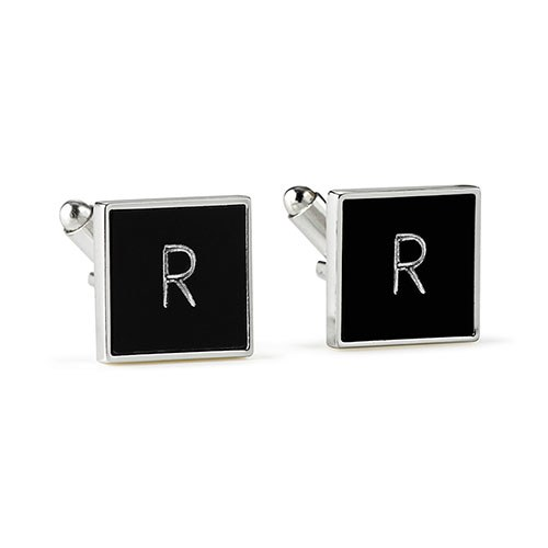 Black Square Cuff Links
