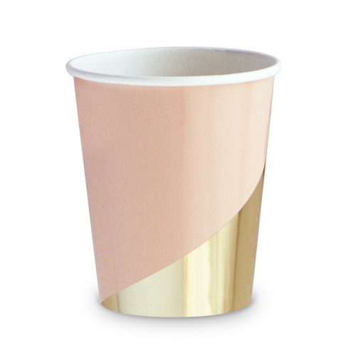 Gold Colorblock Paper Cups - 9 oz