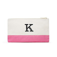 Colorblock Cosmetic Bag - Hot Pink