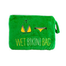 Large Waterproof Wet Bikini and Swimsuit Bag- Green