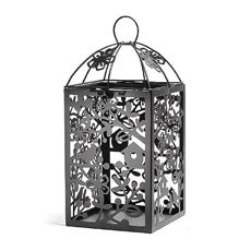 Black Metal Table Lantern - Large
