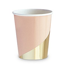 Gold Colorblock Party Cups - 9 oz.