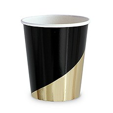 Black & Gold Party Cups - 9 oz.