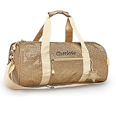 Personalized Kids Glitter Duffle Bag - Gold