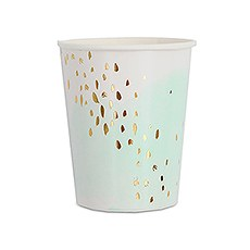 Watercolor & Gold Paper Party Cups - 9 oz.