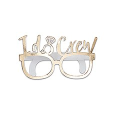 Fun Wedding Photo Booth Prop Glasses - I Do Crew