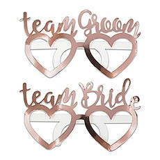 Fun Wedding Photo Booth Prop Glasses - Team Bride & Groom