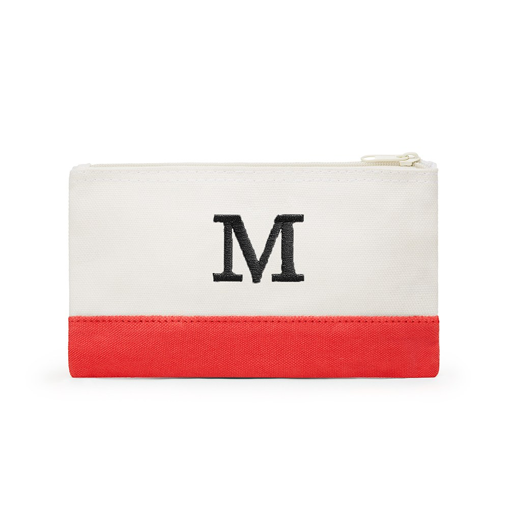 Colorblock Cosmetic Bag Coral / Soft Red