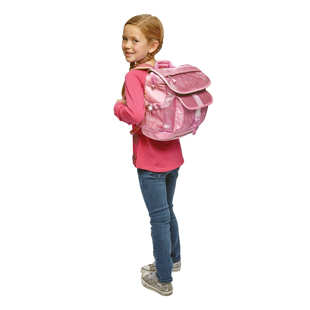 Personalized Kid's Glitter Backpack - Pink