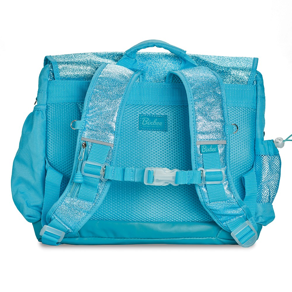 Personalized Kid's Glitter Backpack - Turquoise