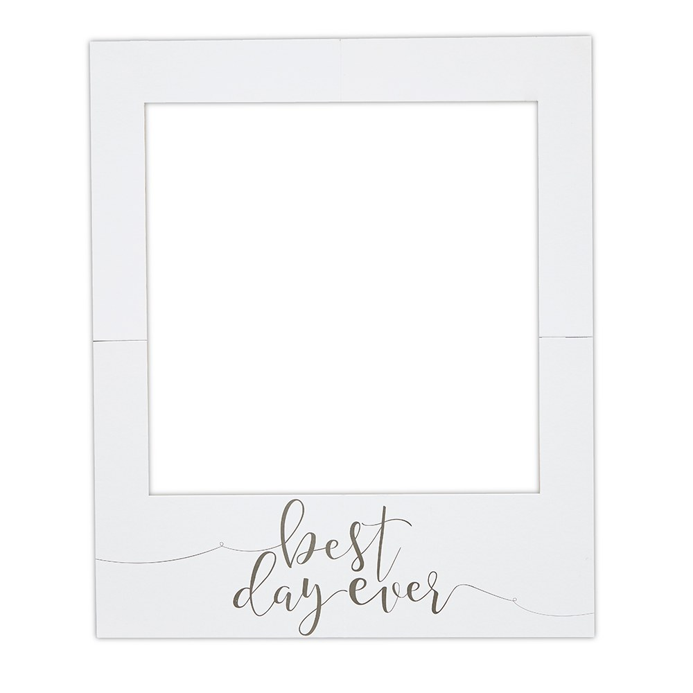 Large Wedding Frame Photo Booth Background Prop - Best Day Ever Polaroid