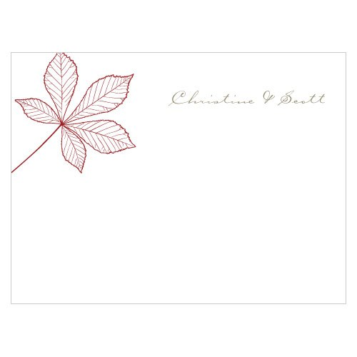 Autumn Leaf Wedding Note Card