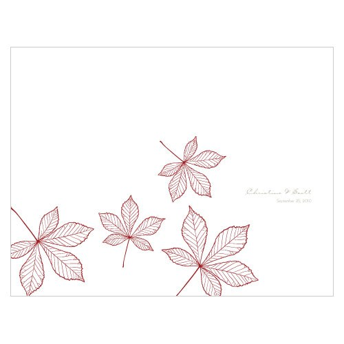 Autumn Leaf Wedding Bulletin