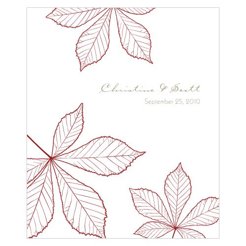 Autumn Leaf Large Rectangular Wedding Label