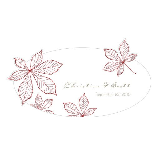 Autumn Leaf Small Wedding Window Cling
