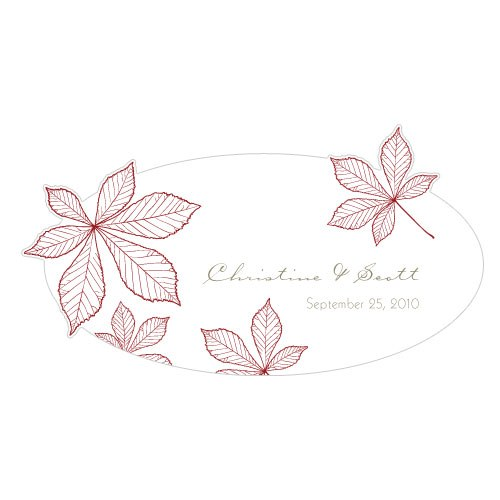 Autumn Leaf Large Window Cling