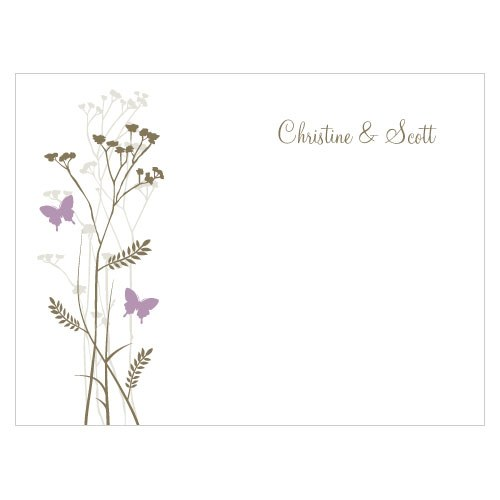 Romantic Butterfly Wedding Note Card
