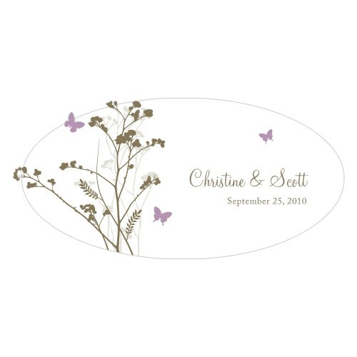 Romantic Butterfly Small Wedding Window Cling