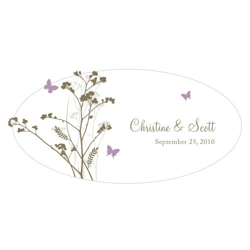 Romantic Butterfly Large Wedding Window Cling