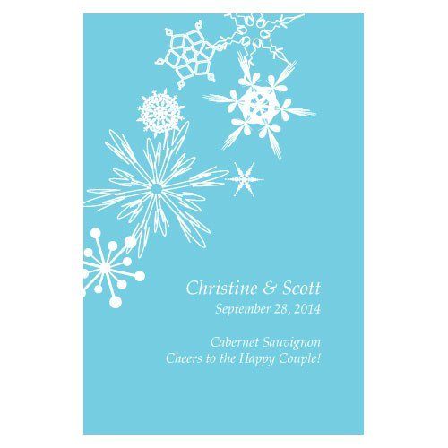 Winter Finery Wedding Wine Bottle Label
