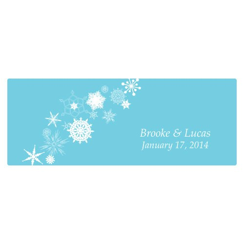 Winter Finery Large Wedding Window Cling