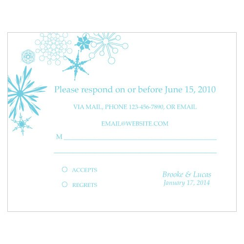 Winter Finery Wedding  RSVP Card