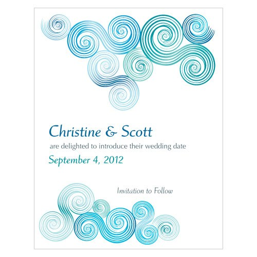 Sea Breeze Wedding Save The Date Card
