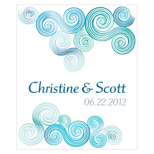 Sea Breeze Rectangular Wedding Favor Label