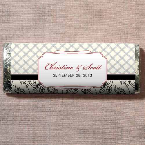 Eclectic Patterns Chocolate Bar Wedding Favor