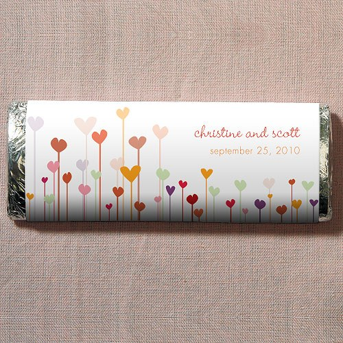 Hearts Personalized Chocolate Bar Favor