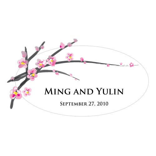 Cherry Blossom Small Wedding Window Cling