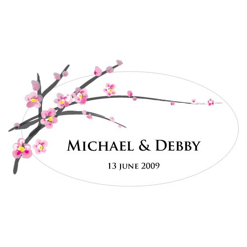 Cherry Blossom Large Wedding Window Cling