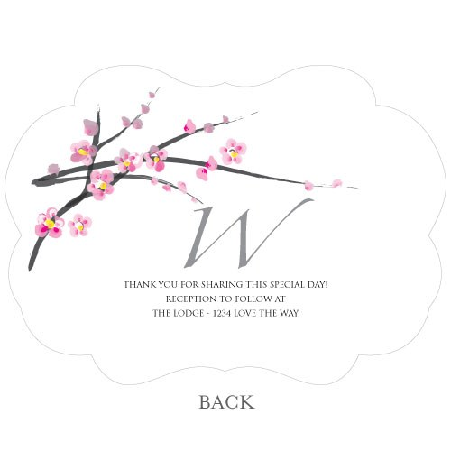 Cherry Blossom Hand Fan Wedding Favor