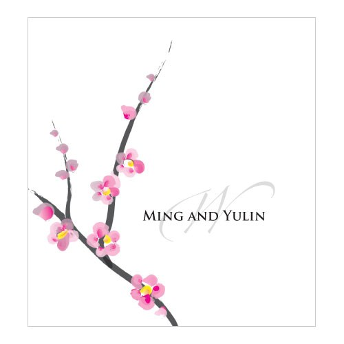 Cherry Blossom Personalized Wedding Candy Roll Wrap