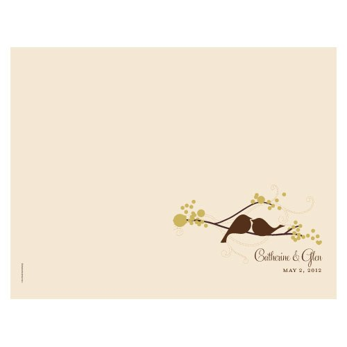 love bird wedding bulletin stationery