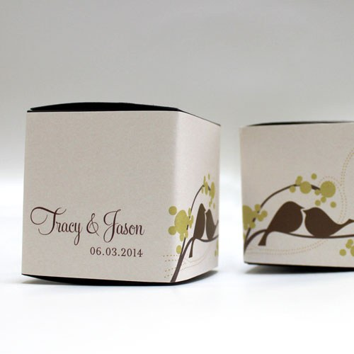 Love Bird Wedding Favor Box Wrap